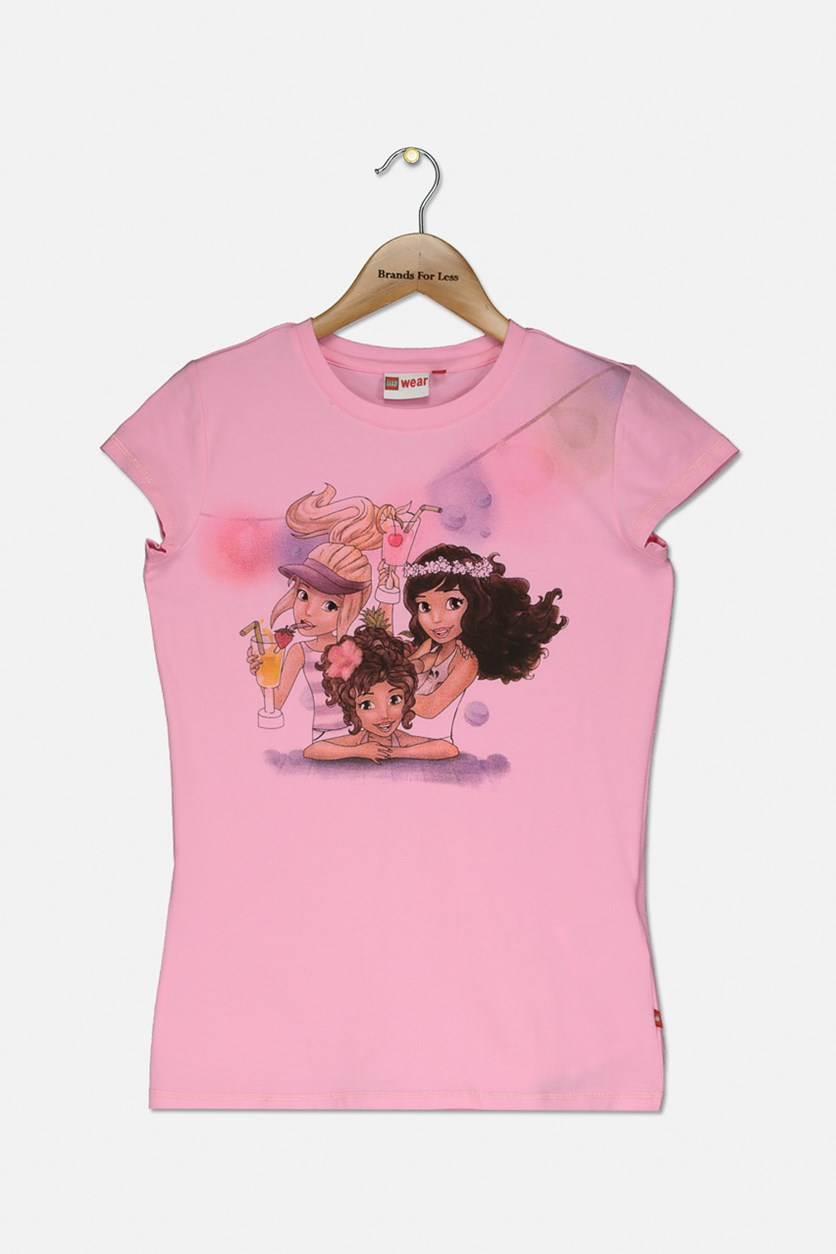 Kids Girls Tanya 405 T-shirt, Pink