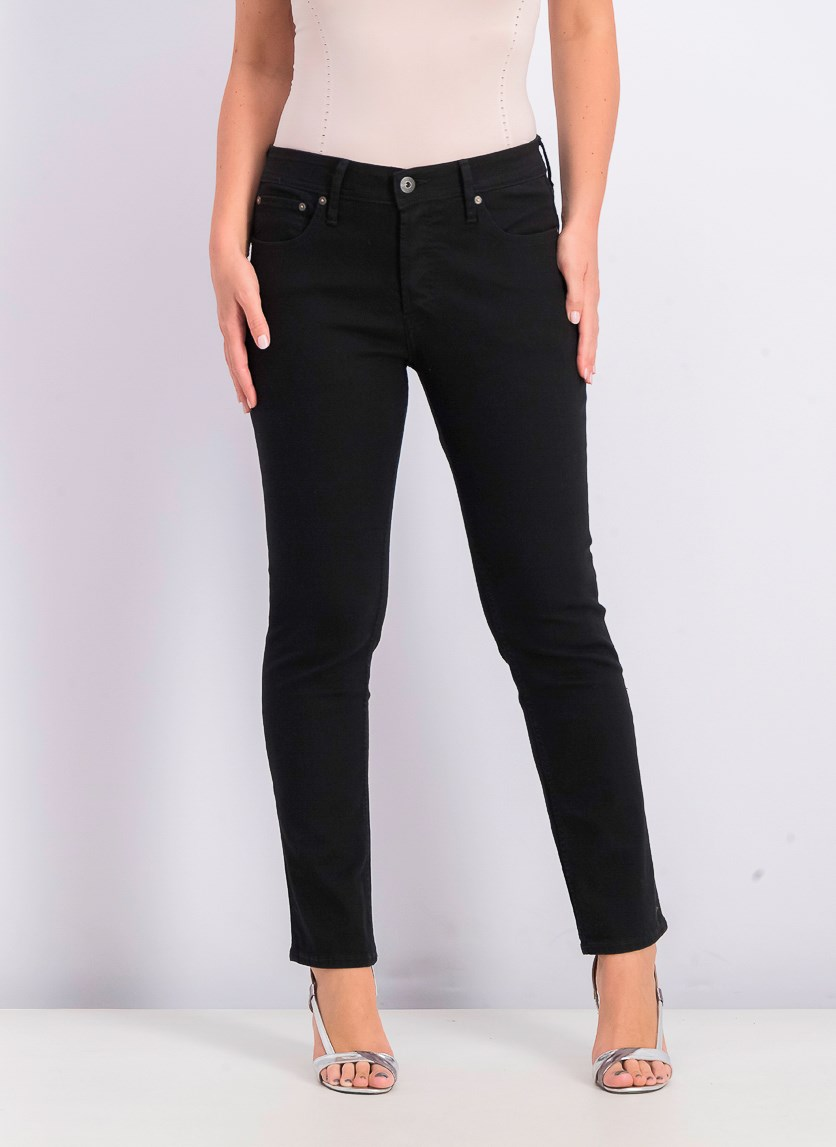 Women's Slim Fit Jeans, Black