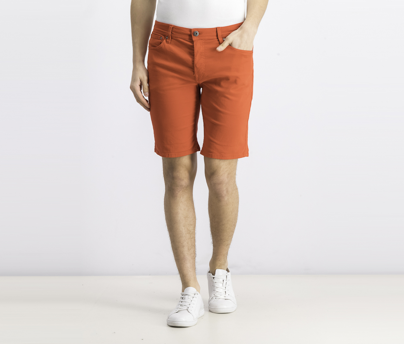 Men's Knit Shorts, Red