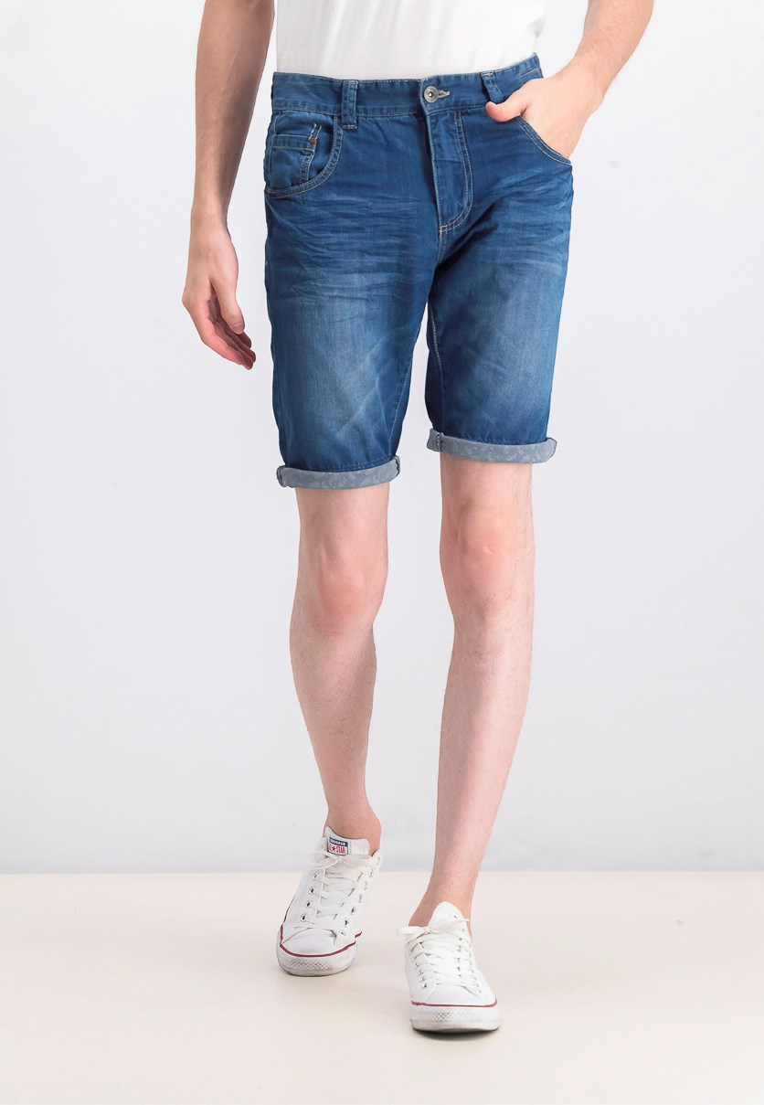Men's Denim Shorts, Blue