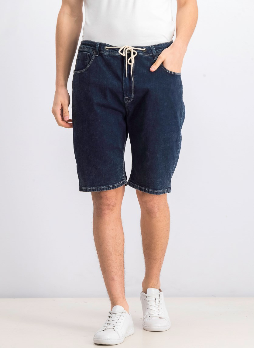 Men's Denim Shorts, Navy Blue