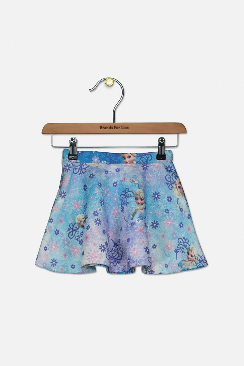 Toddlers Frozen Print Skirt, Blue Combo