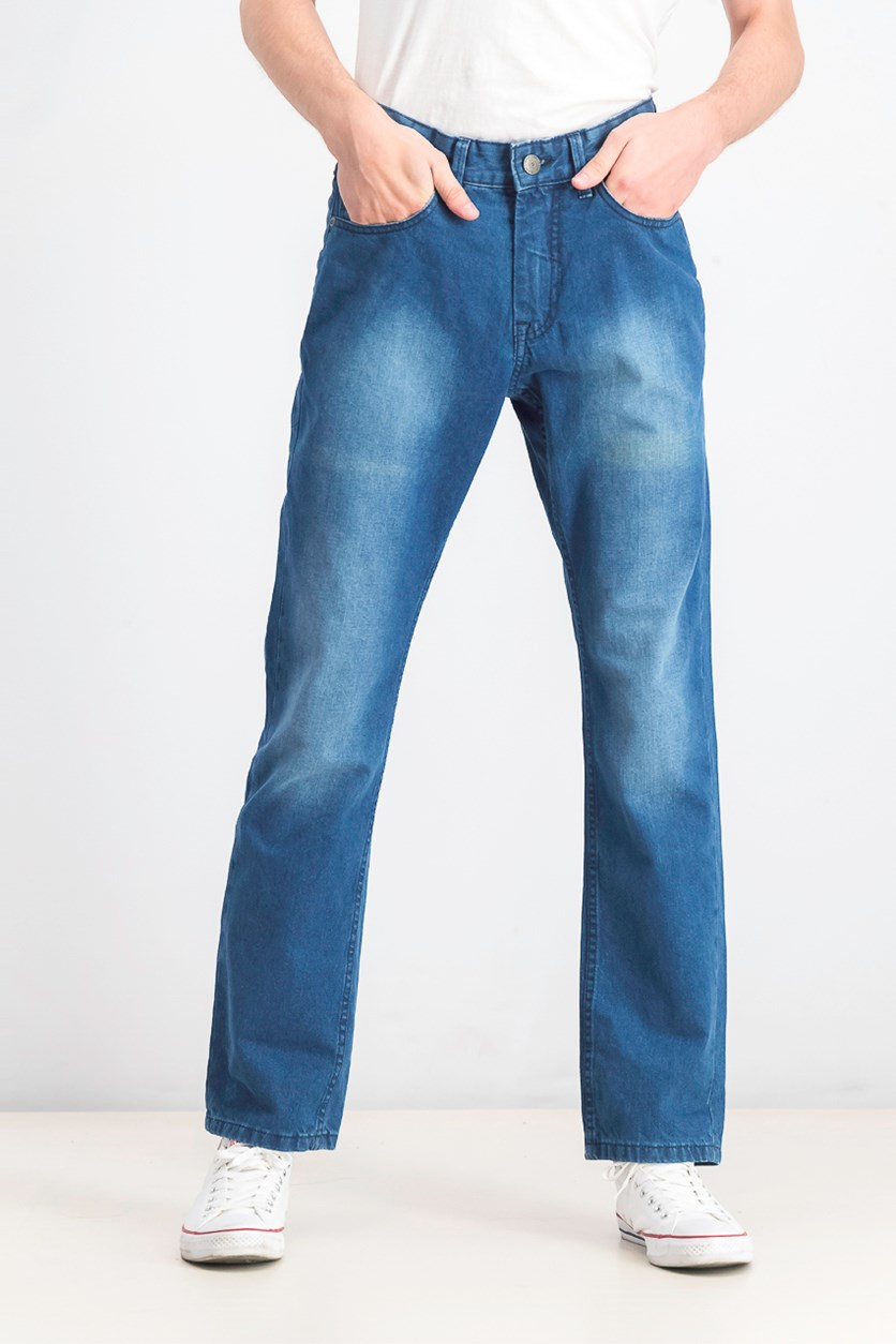 Mens Wash Jeans, Navy Wash