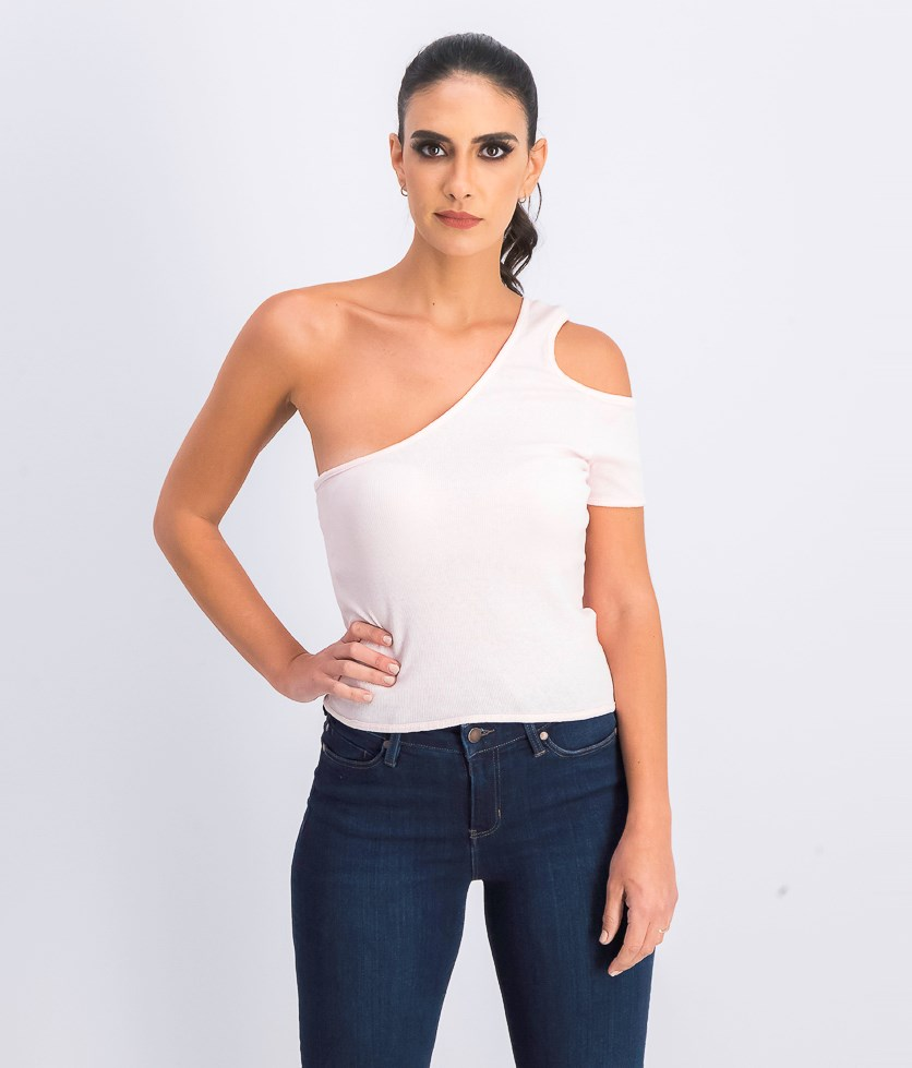 Women's Cold Shoulder Top, Light Pink