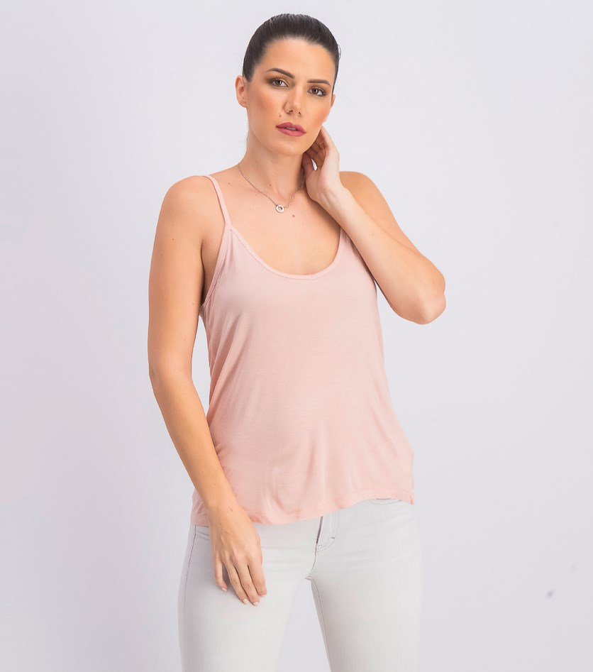 Women's Sleeveless Top, Pale Pink
