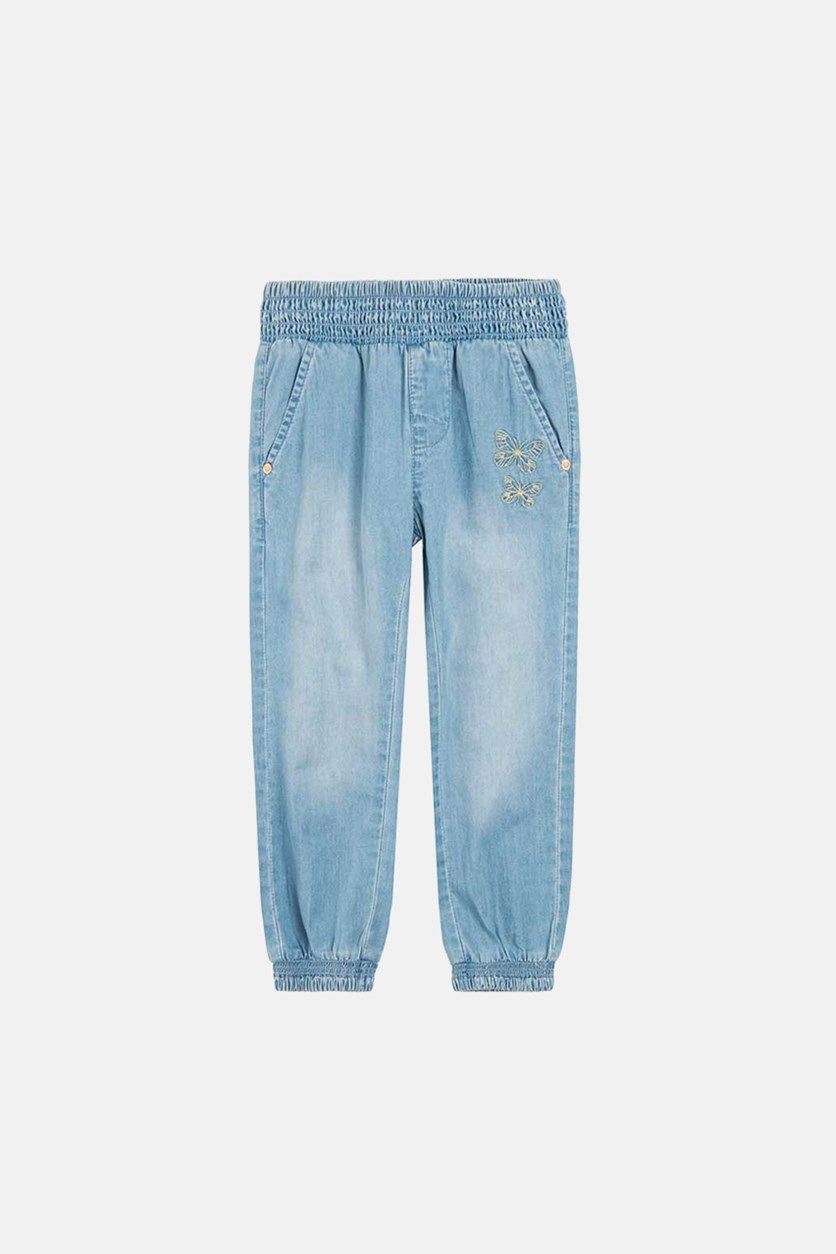 Toddler Girls Pull On Pants, Blue