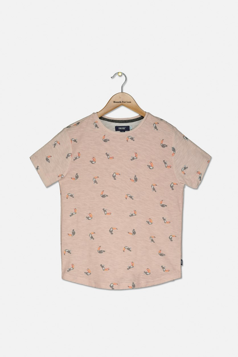 Big Boys Irwin Toucan T-Shirt, Light Peach