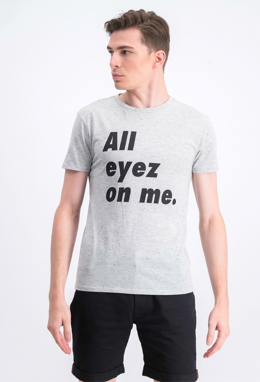 Mens All Eyez On ME T-Shirt, Grey