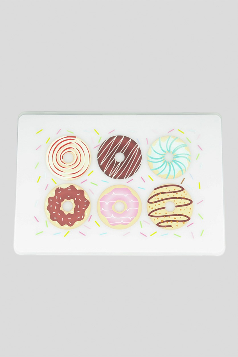 Hard Frosted Printed Donut Case, Transparent