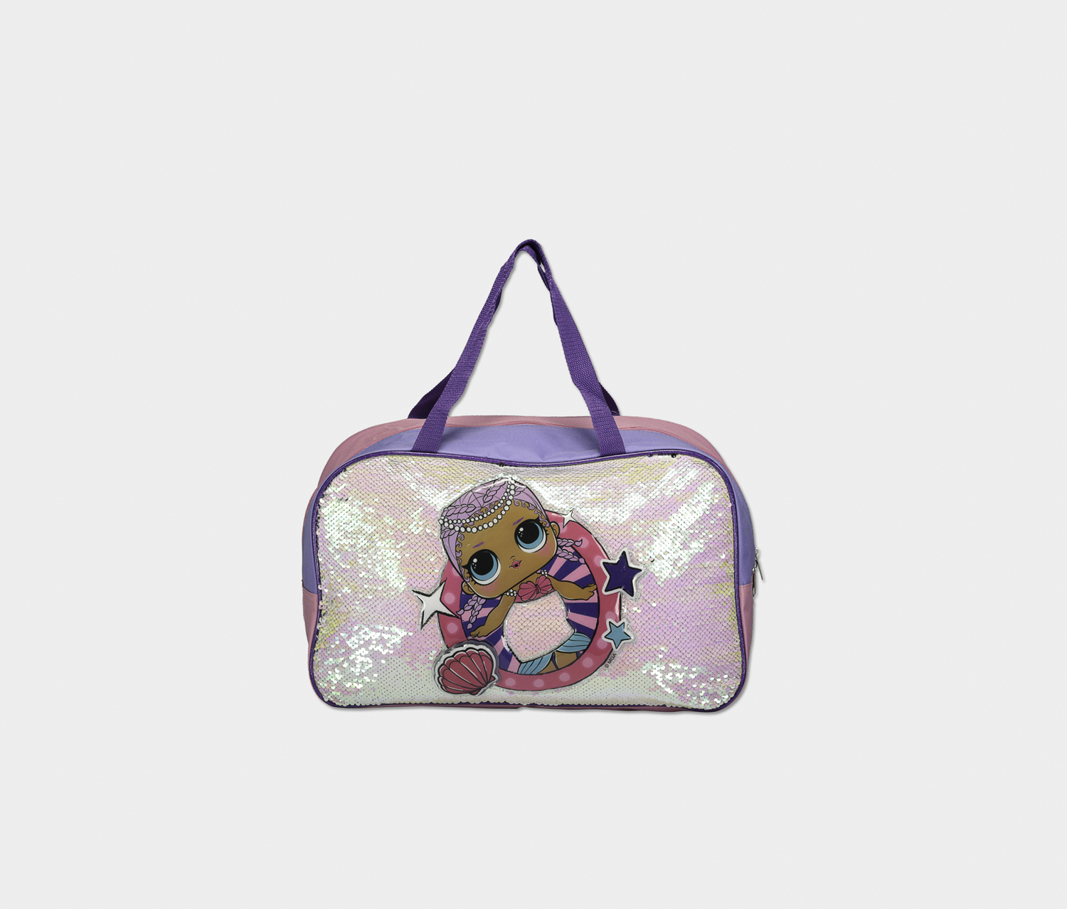 Kids Duffle Bag, Pink/Purple
