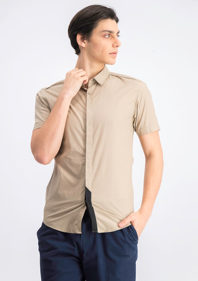 Men's Rug Slim Fit Shirt, Khaki