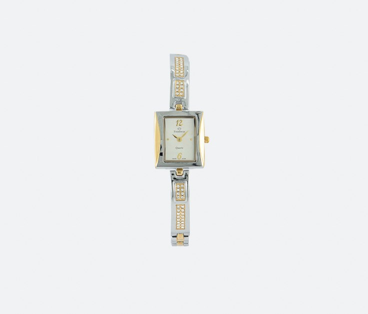 Women's 2761-LTS Analog Watches, White/Silver/Gold