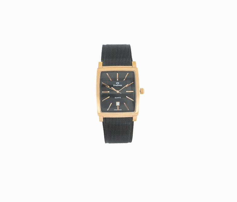 Men's 5742-GRBB Metal Solid Analog Watches, Black/Bronze