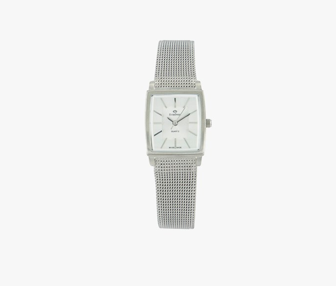 Women's Milanese Strap Square Watch, Silver