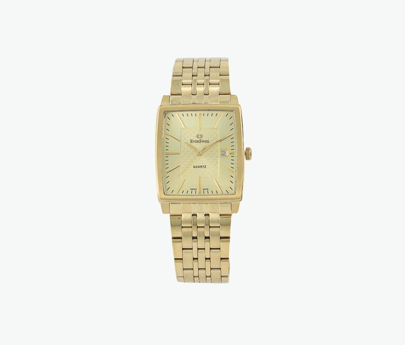 Men's Three Hands With Date Wrist Watch, Gold