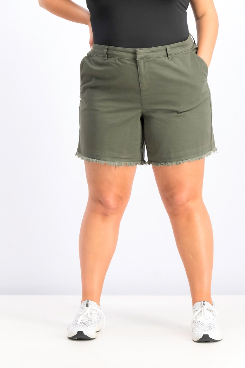 Women's Cutoff Shorts, Green Licorice