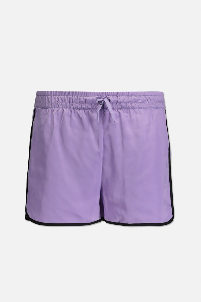 Big Girls Colorblocked Shorts, Purple
