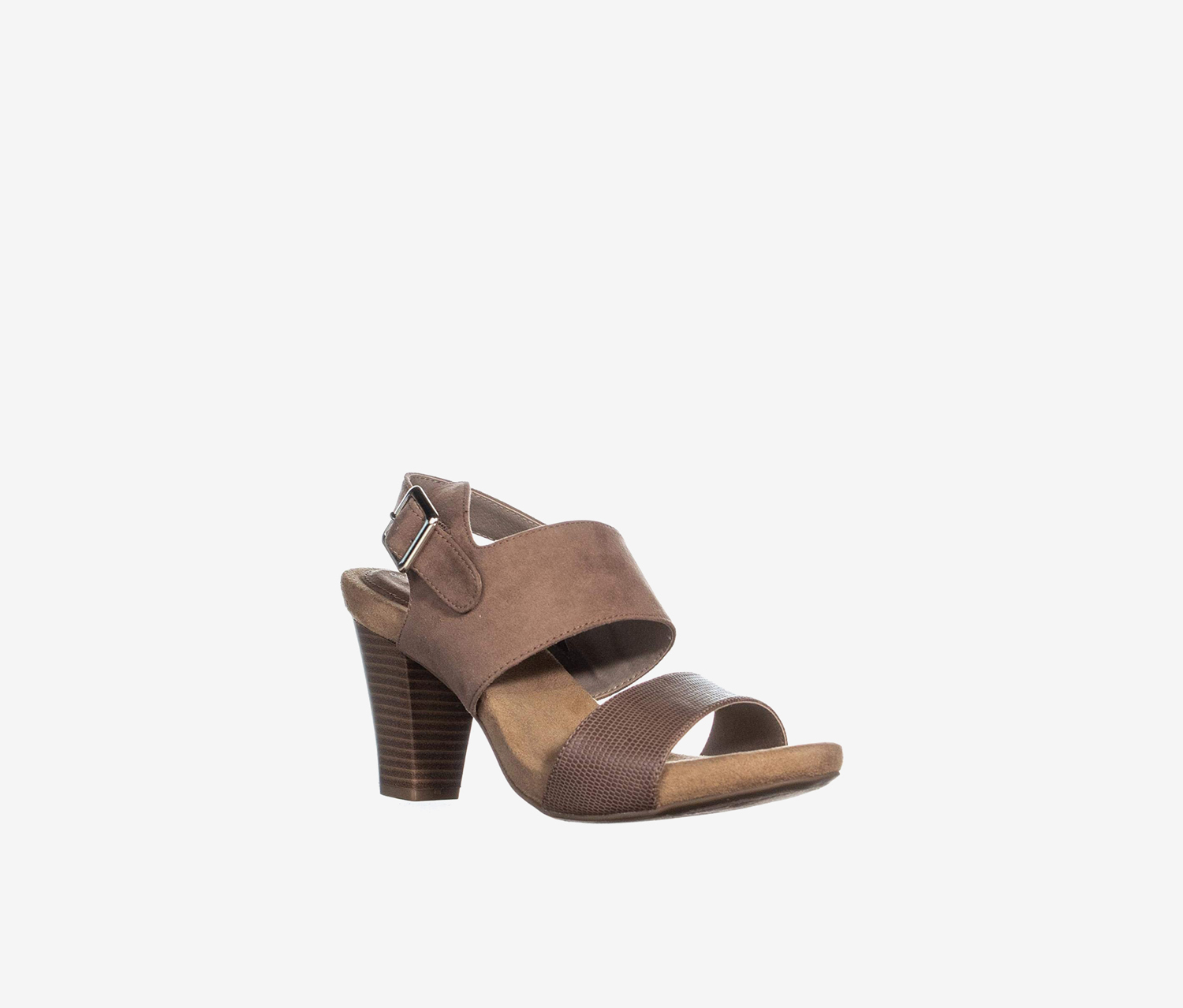Womens Aikko Open Toe Casual Ankle Strap Sandals, Taupe