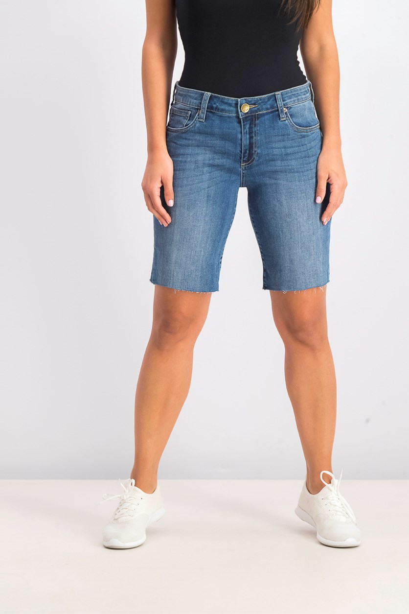 Women's Bermuda Denim Short, Wash Blue