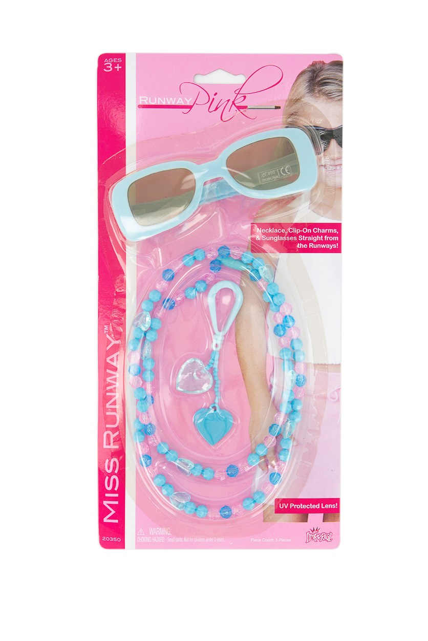 Necklace Clip On Charm & Sunglasses, Blue