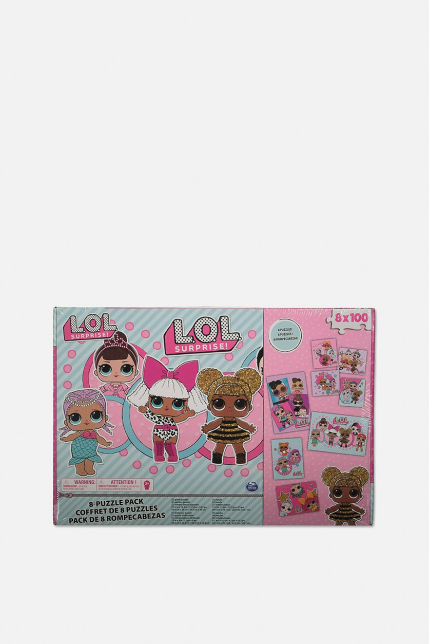 Dolls 8 Pack 100 Pcs Each Jigsaw Puzzle In Box, Pink