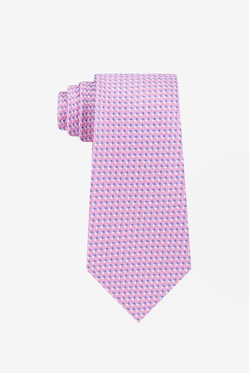 Mens Bicolor Arrow Silk Business Neck Tie, Pink