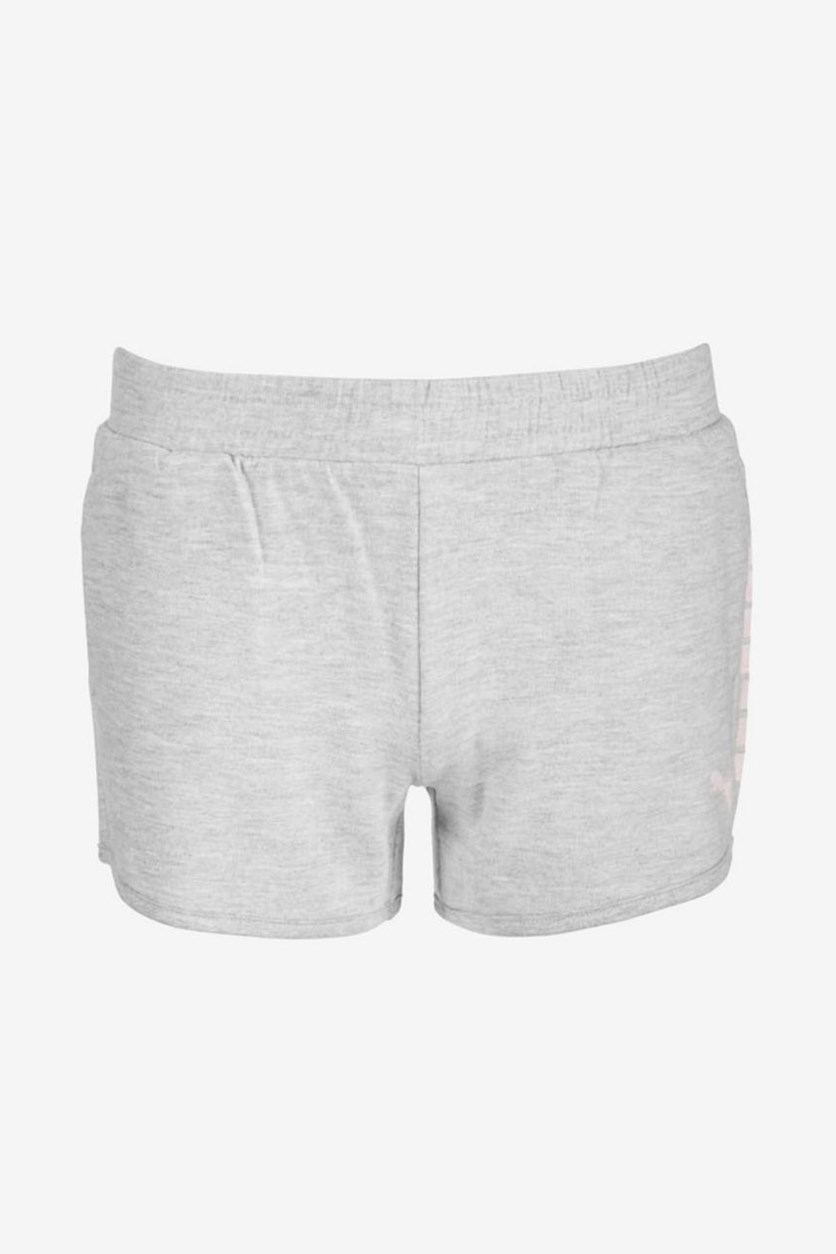 Girls French Terry Pull-On Shorts, Gray