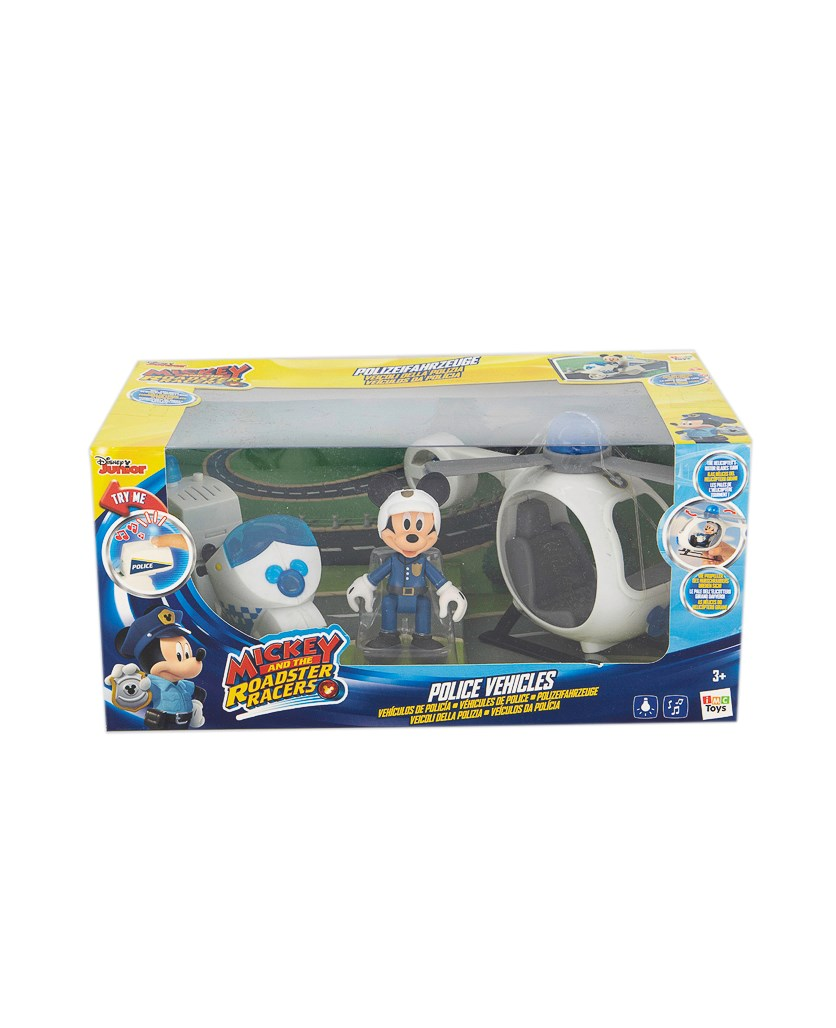 Mickey And The Roadster Racer Police Vehicles Set, Blue/White