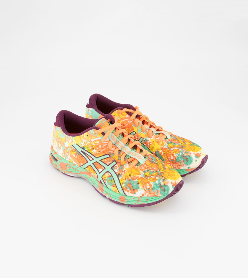 Women's Gel Noosa Tri 11 Running Shoes, Flash Coral/Spring Bud/Sun