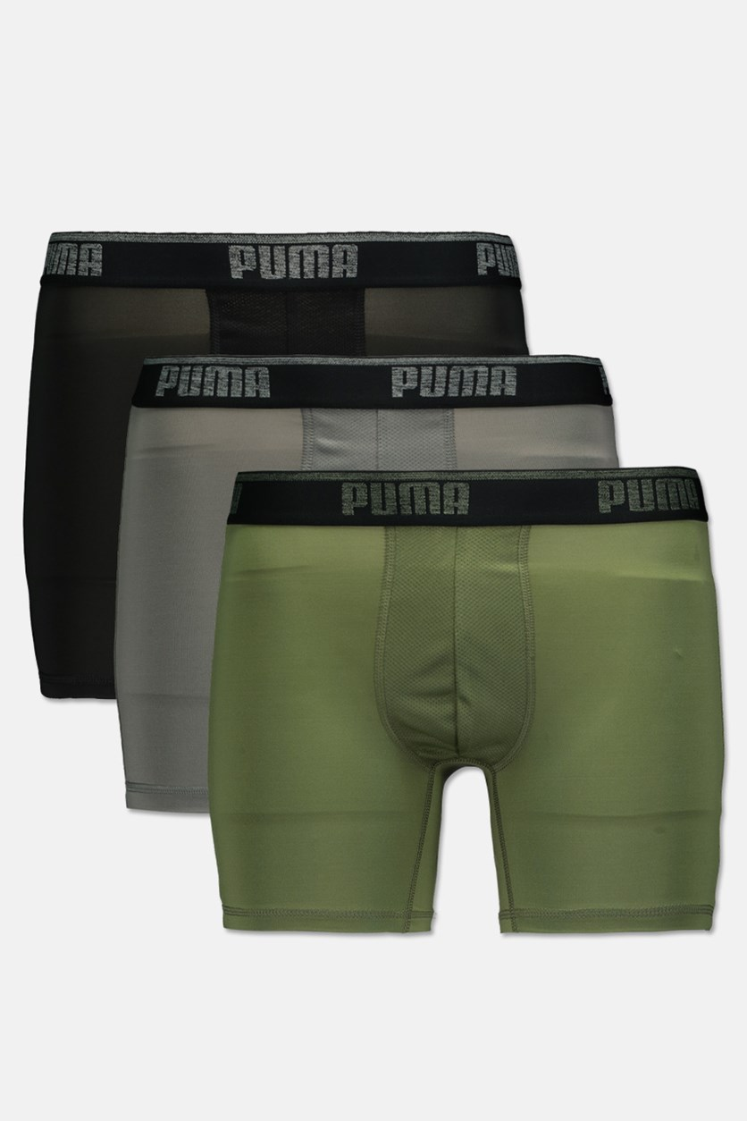 Men's Performance 3 Pck Boxer Brief, Olive/Grey/Black