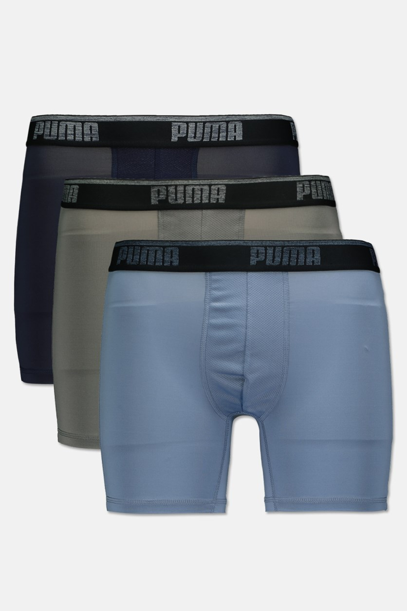 Men's Performance 3 Pck Boxer Brief, Light Blue/Grey/Navy