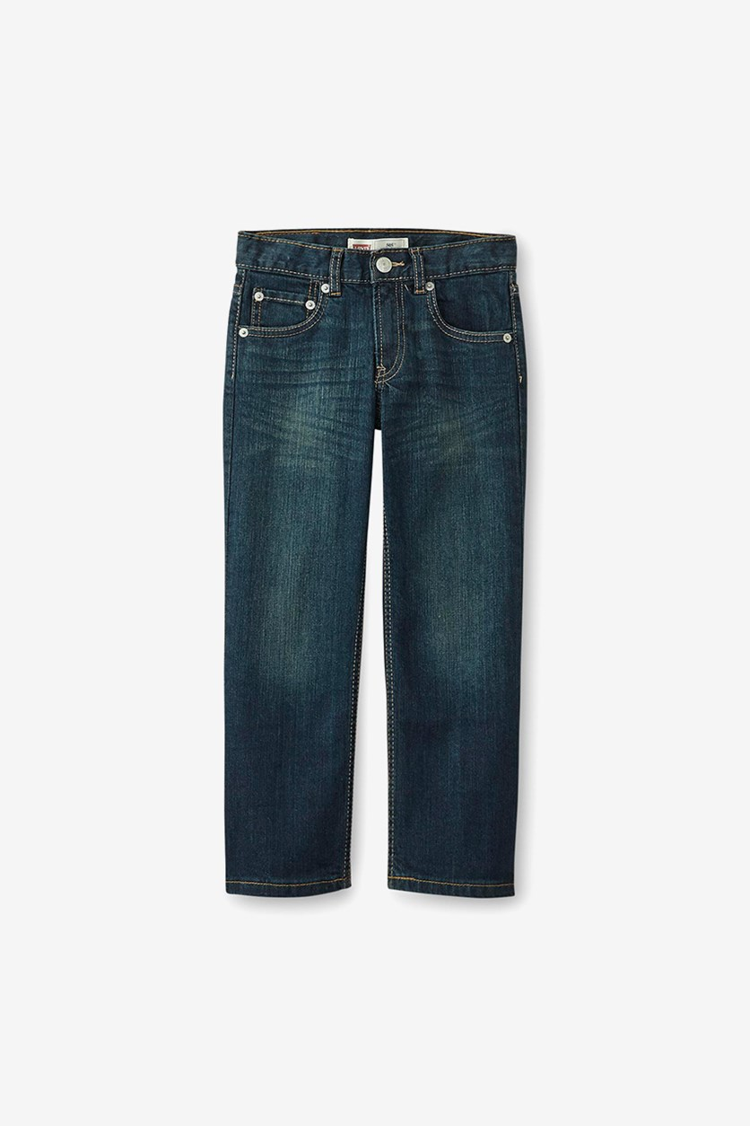 Kids Boys' 505 Regular Fit Jeans, Wash Blue