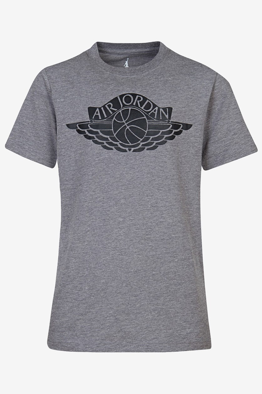 Big Boy's Fly Wings Graphic-Print Cotton T-Shirt, Carbon Heather