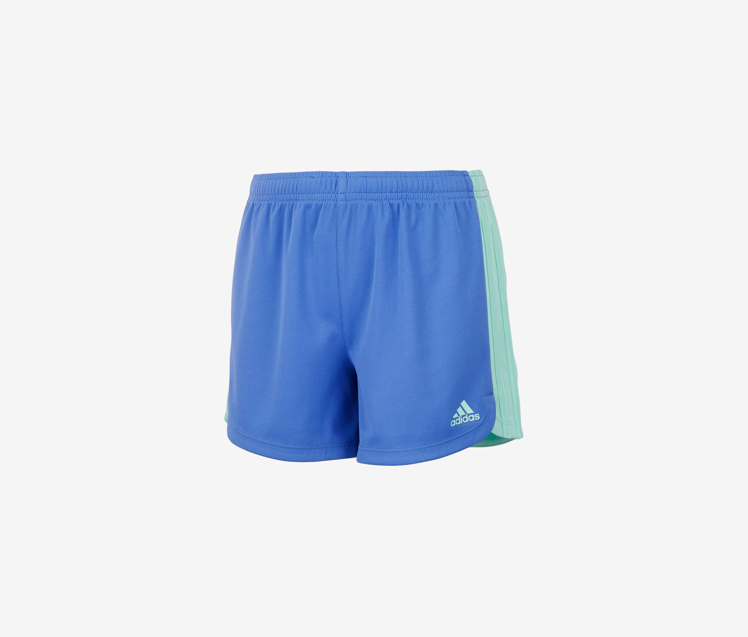 Big Girls 3-Stripe Sports Shorts, Blue Lilac