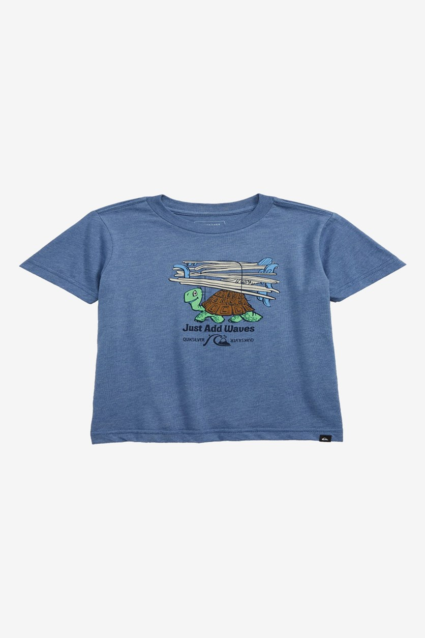 Curious Adventures Graphic T-Shirt, Heather Blue