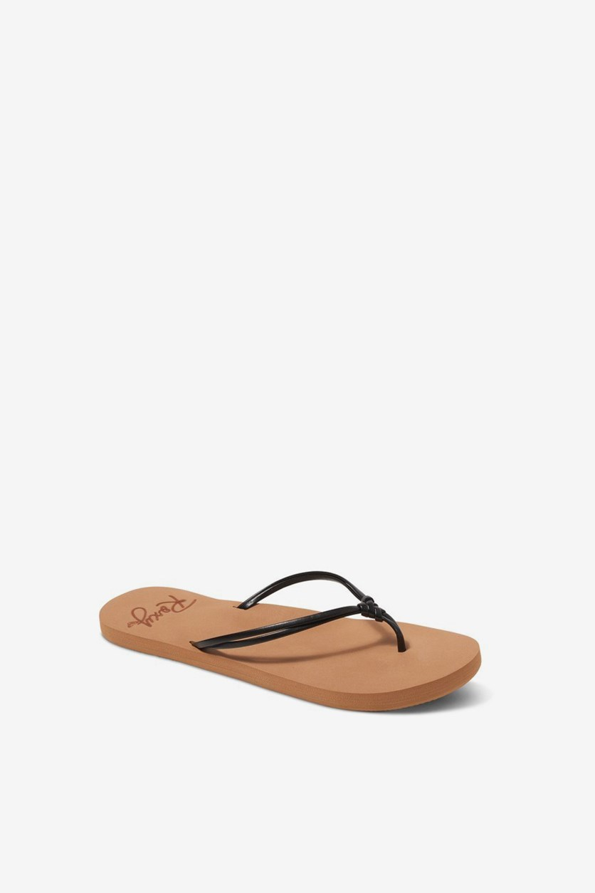 Kids' Rg Lahaina Sandals Flat Flip-Flop, Tan/Black
