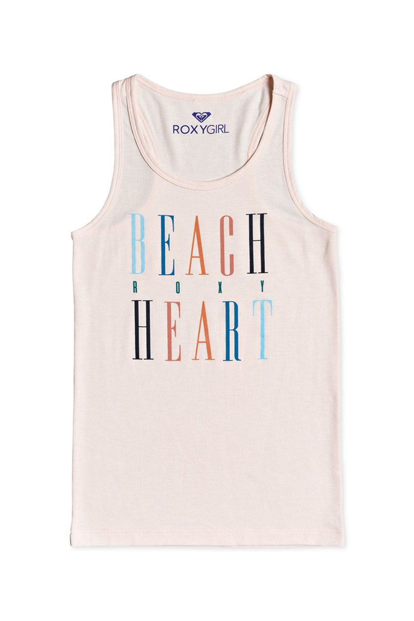 Big Girls Beach Party Racerback Tank Top, Peach