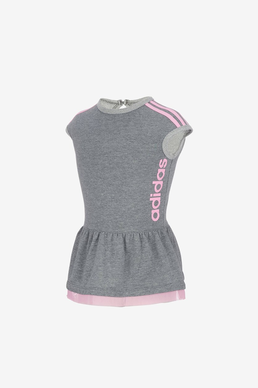 Little Girl's Athletic Dress, Grey Heather