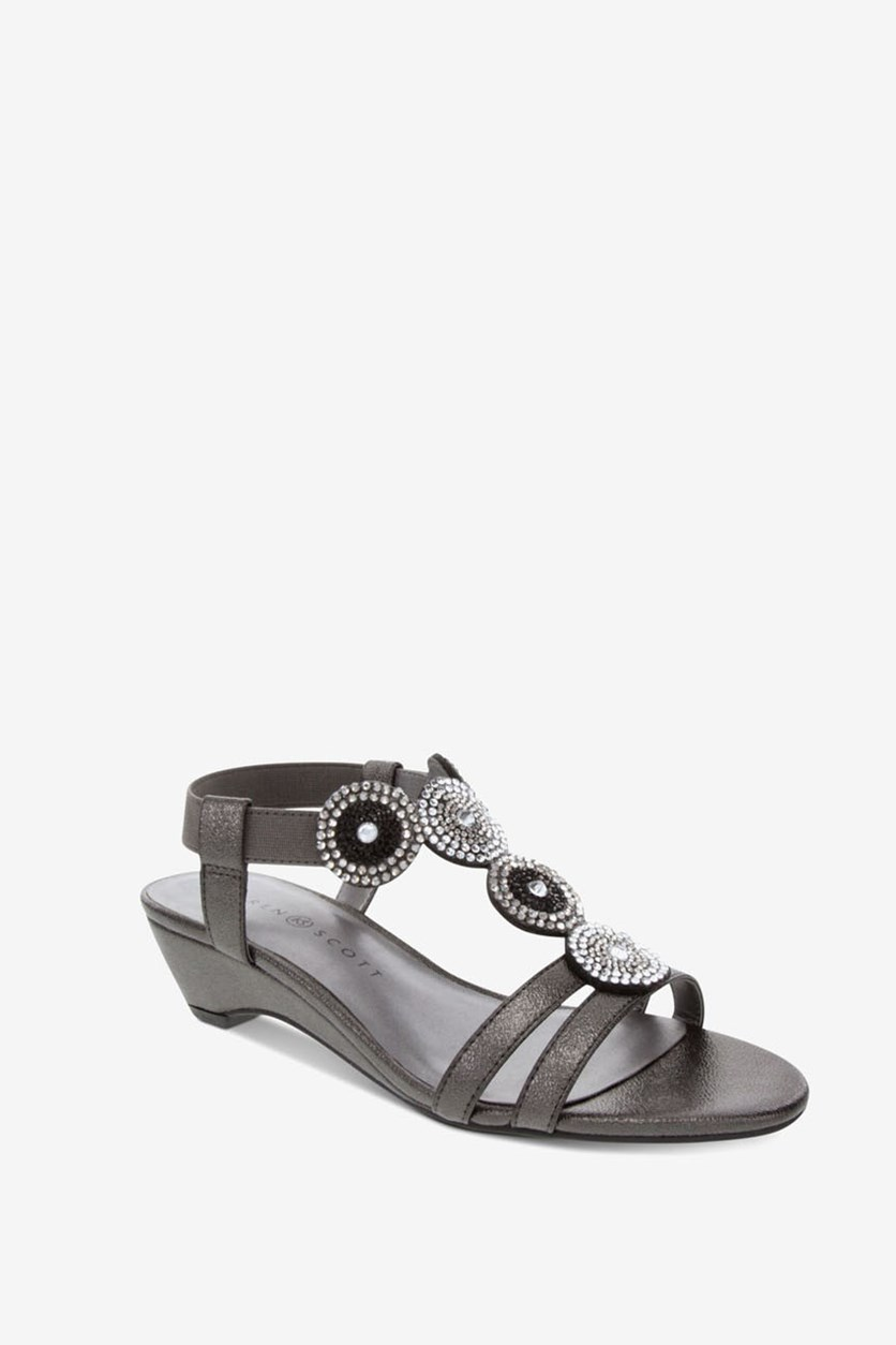 Women's Catrinaa Wedge Sandals, Pewter