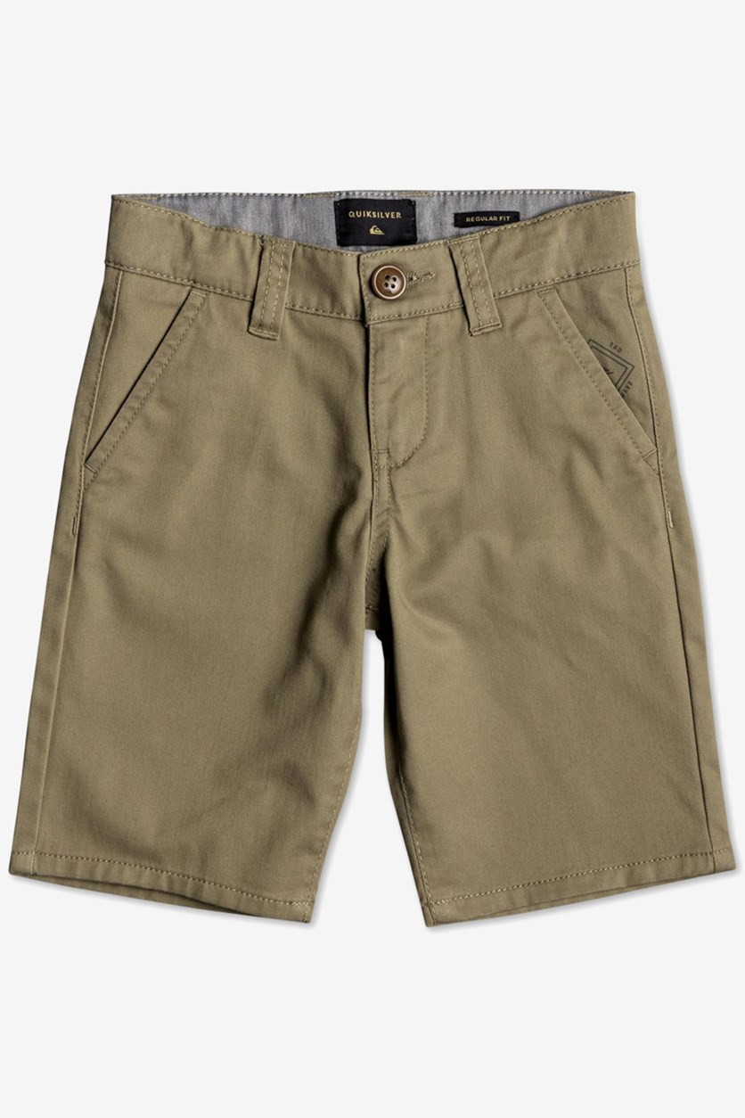Toddler Boys Everyday Union Stretch Shorts, Olive