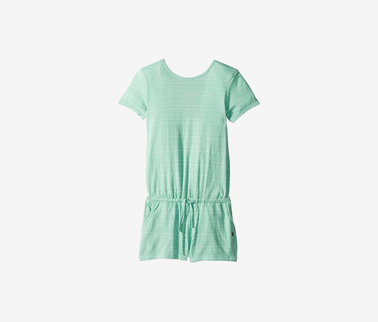 Girls Striped Romper, Green