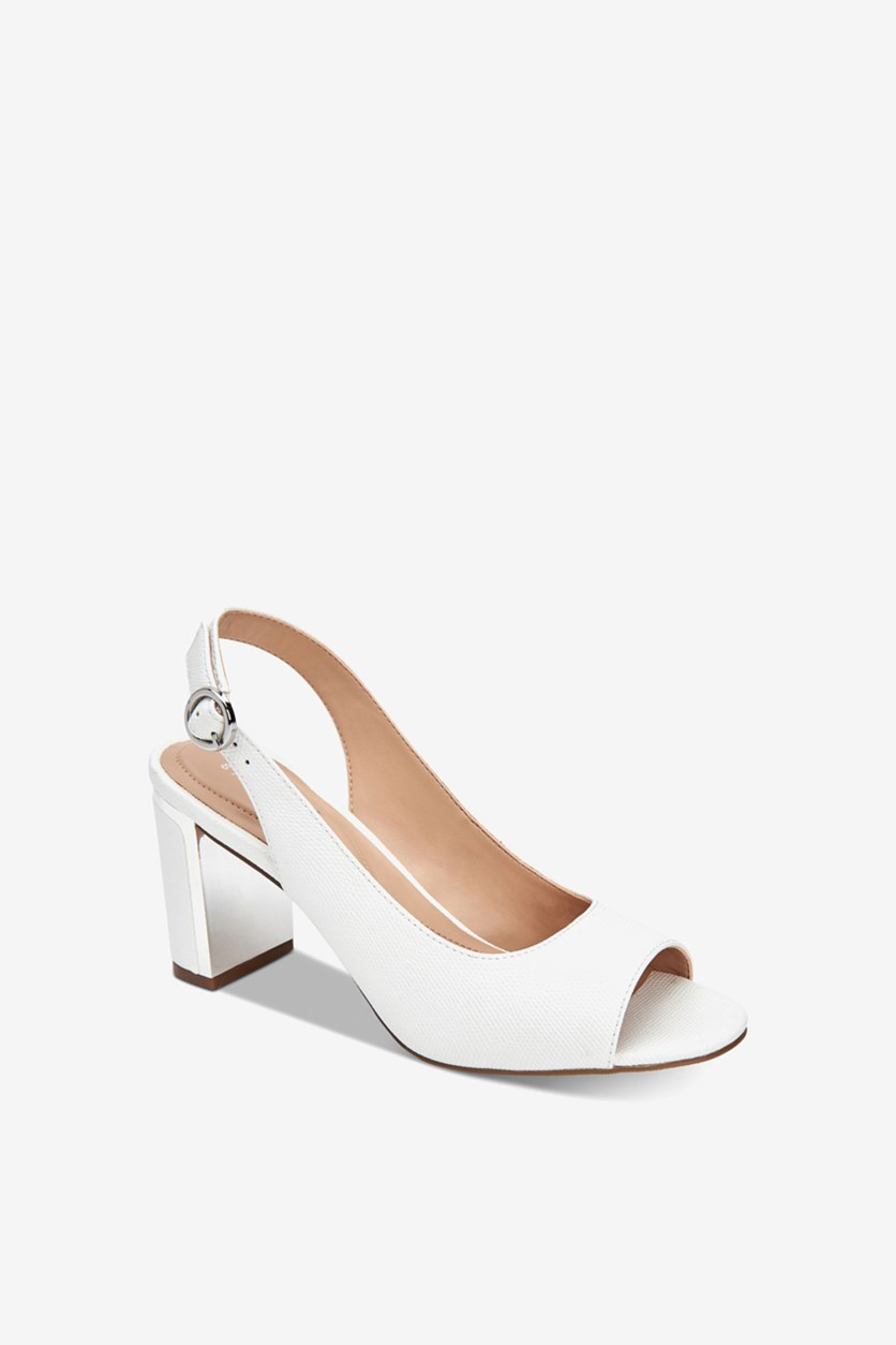 Women's Floral Open Toe Ankle Strap Sandals, White