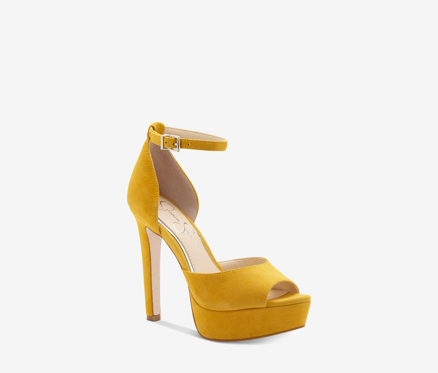 Women's Peep Toe Ankle Strap Sandals, Sunflower