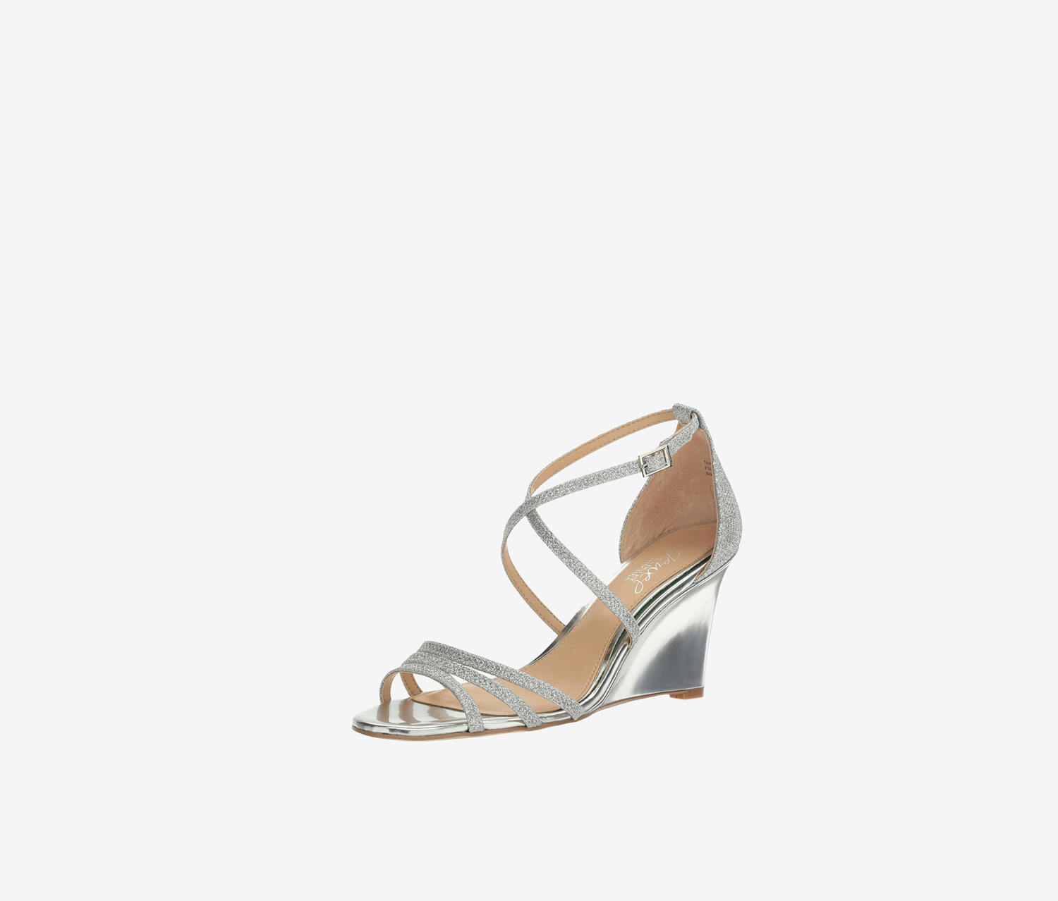 Womens Hunt Peep Toe Casual Ankle Strap, Silver
