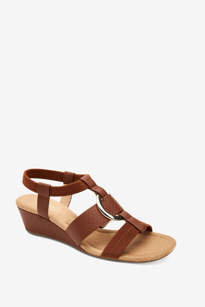 Women's Vennice Wedge Sandals, Cognac