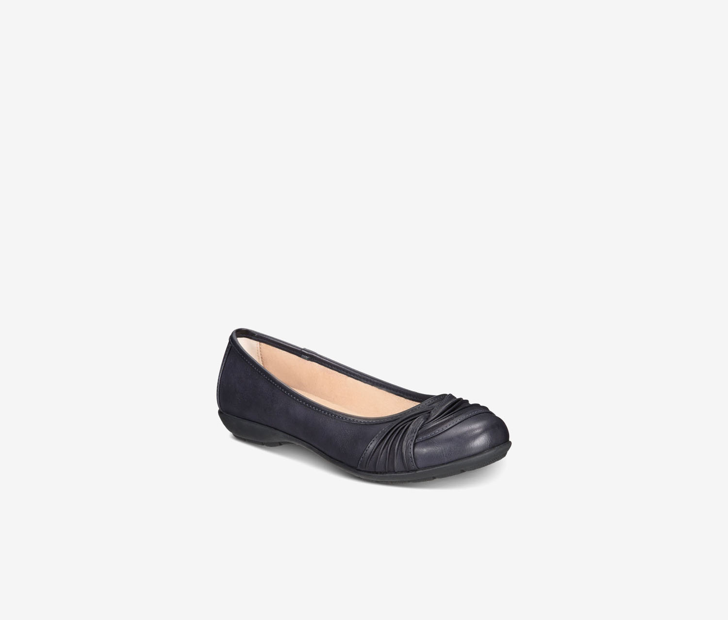 Women's Sable Round Toe Ballet Flats, Navy Blue