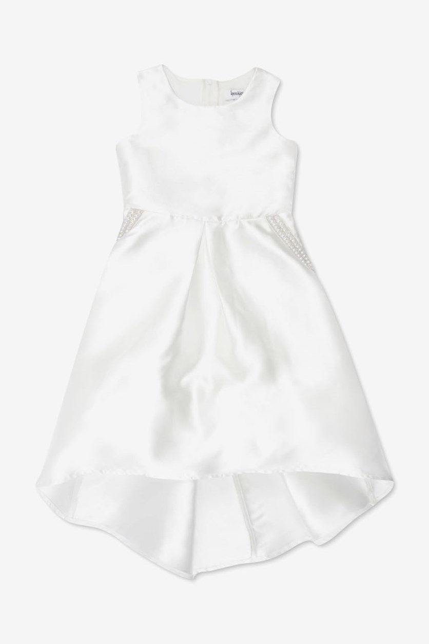 Girls Mikado Dress, Ivory