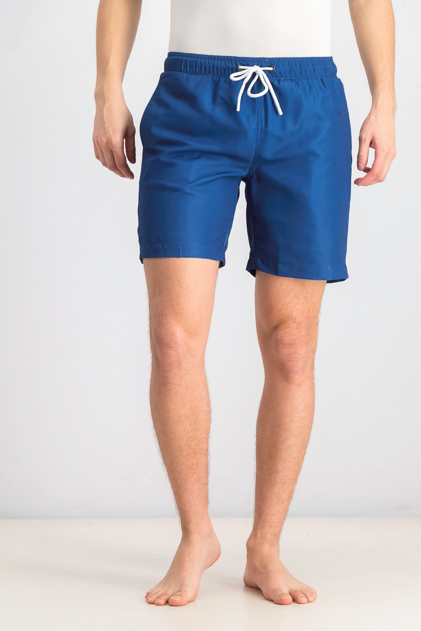 Men's Plain Swim Trunks, Royal Blue