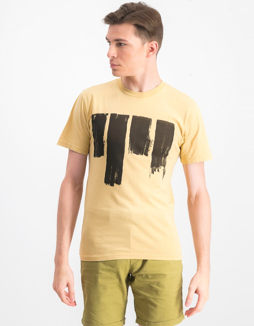Men's Short Sleeve T-shirt, Pale Yellow