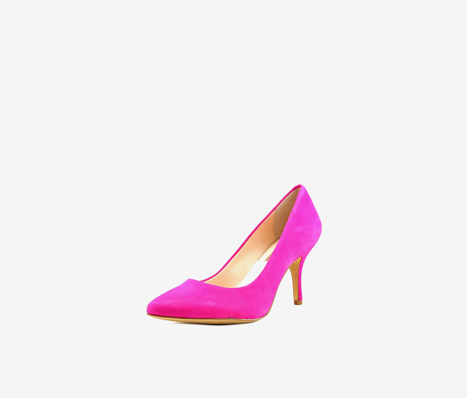 Women's Zitah Leather Pointed Pumps, Deep Fuchsia